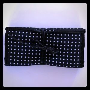 SATIN TIE MAKEUP/JEWELRY/ACCESSORY TRAVEL POUCH